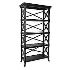 Four Shelf Bookcase Wood Metal Bookcases White U0026 Black Bookcases Bed Bath U0026 Beyond