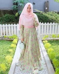 Baju Muslim Dewasa Ukuran Kecil 35 model baju gamis motif bunga kece untuk berbagai acara