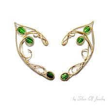 tauriel elven ears elf ranger gold and green elf ears
