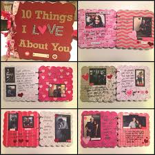 Homemade Valentine S Day Gifts For Her by Boyfriend Gift Idea Chipboard Scrapbook Twinspiration
