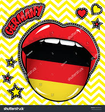 Country Flags Patches Happy Birthday Germany Pop Art Stock Vector 569036923