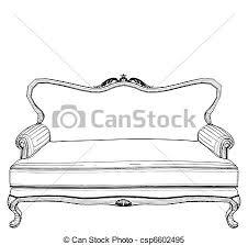 classic sofa sofa vector clipart vector search illustration