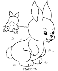 easter bunny coloring pages bluebonkers pair bunnies free