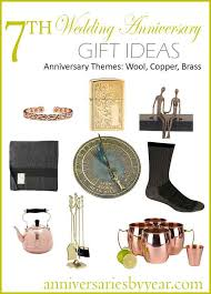 7 year anniversary gift ideas 7th year anniversary 7th anniversary gifts