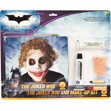 party city halloween costumes wigs batman dark knight deluxe joker wig makeup halloween costume