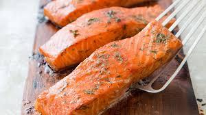 cedar planked salmon with cucumber yogurt sauce cook u0027s country