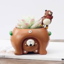bureau invers mini inversé table pots mignon porc chats chiens ours de