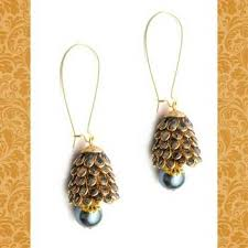 pachi earrings buy grey pachi work jhoomar earrings online