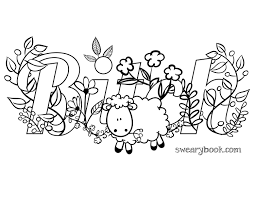 free coloring pages from swear word coloring book coloring