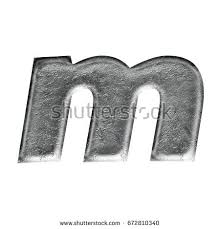 gray stone lowercase small letter m stock illustration 714131539