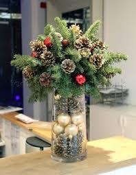 christmas table flower arrangement ideas christmas flowers christmas pinterest tall vase centerpieces