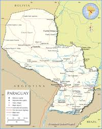 Political Map Of Central America by Political Map Of Paraguay Nations Online Project