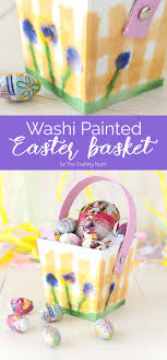 painted easter baskets washi painted easter basket the crafting nook by titicrafty