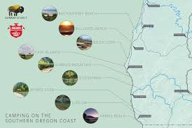 Oregon Beaches Map by Camping On The Southern Oregon Coast Outdoor Project
