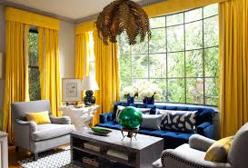 Gray Blue Living Room Blue And Yellow Decor