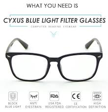 blue light filter goggles cyxus blue light filter computer glasses blocking uv anti eyestrain