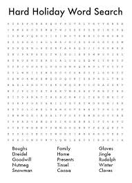 word puzzle word search printables holidappy