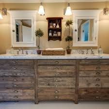 industrial rustic bathroom ideas double bowl sink ceramic flooring
