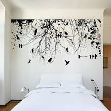 tree branch with birds vinyl wall decal