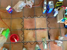 Quick Shine Floor Finish Remover by Dusty Coyote Stripping And Sealing A Saltillo Tile Floor
