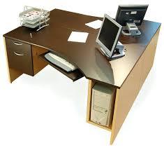 Dual Monitor Computer Desks Computer Desks Dual Monitor Computer Desk With Hutch