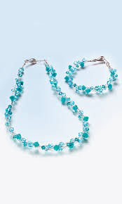 jewelry design multi strand necklace and bracelet with swarovski