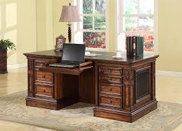 Executive Desk Parker House Leonardo Double Pedestal Executive Desk With 2 File