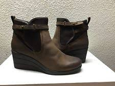 s ugg australia brown emalie boots ugg australia 8 womens emalie wedge bootie waterproof leather