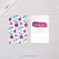 Business Card Mockup Psd Download Watercolor Floral Business Card Mockup Psd File Free Download