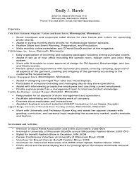 Fashion Merchandising Resume Sample by Sample Resume Visual Merchandising Manager Corpedo Com