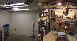 Man Cave Ideas For Small Spaces - this guy built a rustic cabin man cave for 107 twistedsifter