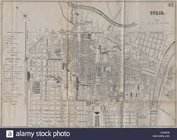 City Map Of Torino Turin by Turin Torino Antique Town Plan City Map Italy Bradshaw 1895