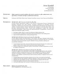 Resume Sample Secretary by Resume Examples Secretary Template