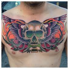neo traditional chest search tattoos
