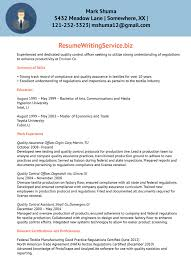 Quality Assurance Resume Samples by Quality Control Officer Resume Sample Resume Writing Service