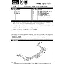 pct rn4121 u201398 10 renault master vauxhall movano nissan interstar