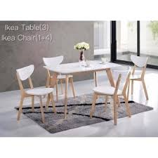 Kitchen Z Solid Wood Dining Table Stella Mm With  Chairs - White and wood kitchen table