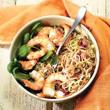 new at panera bread chilled shrimp soba noodle salad tender soba