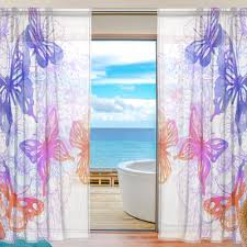 Purple Butterfly Curtains 55x84 Inches Butterfly Curtains For Living Room Watercolor