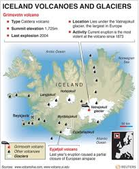 Iceland On Map Iceland Volcano 2011 Incredible Pictures Of Volcanic Ash Released
