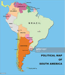 Cuba South America Map by Political Map Of South America In Vector Format Vector Art Getty