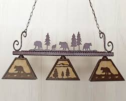 rustic pool table lights western and ranch pem400 island and pool table light rustic