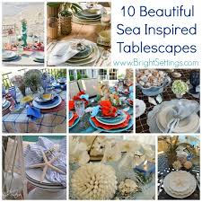 themed tablescapes sea inspired tablescapes the bright ideas