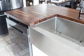 our modern farmhouse kitchen makeover butcher block counters butcher block counter