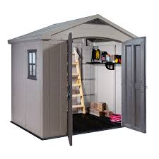 Keter Plastic Keter Plastic Apex Garden Shed 6 X 8ft How To Build Shed Walls