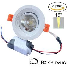 5w dimmable cri u003e80 387lm directional recessed cob led downlight
