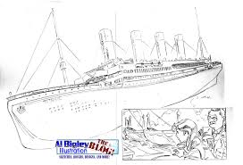 coloring pages of the titanic al bigley illustration the blog remembering the titanic pencils