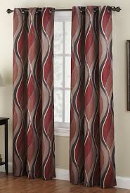 Burgundy Curtain Panels Amazon Com No 918 Intersect Wave Print Casual Textured Curtain