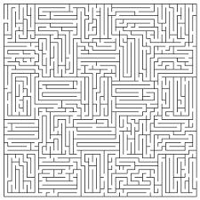 maze coloring page chuckbutt com