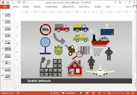 supply chain powerpoint template free value chain powerpoint
